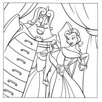 Printable Belle's Wardrobe - Printable Disney - Free Printable Coloring Pages
