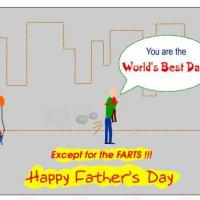 Printable Best Dad Except For The Farts - Printable Fathers Day Cards - Free Printable Cards
