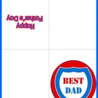 Printable Best Dad Shield - Printable Fathers Day Cards - Free Printable Cards