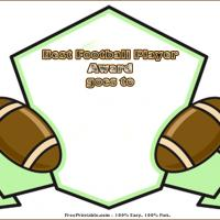 Printable Best Football Player Award - Printable Awards - Misc Printables