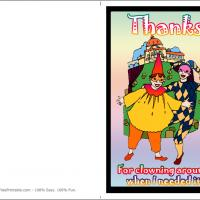 Best Friend Clowns Thank You Card