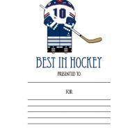 Printable Best in Hockey Award - Printable Awards - Misc Printables