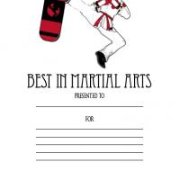 Printable Best in Martial Arts Award - Printable Awards - Misc Printables