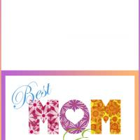 Printable Best Mom Ever Mother's Day Card - Printable Mothers Day Cards - Free Printable Cards