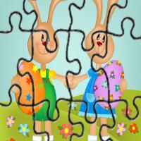 Printable Bestfriend Bunnies Easter Puzzle - Printable Puzzles - Free Printable Games