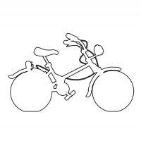 Printable Bicycle Stencil - Printable Stencils - Free Printable Crafts