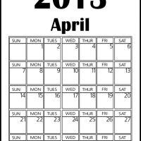 Big April 2013 Calendar
