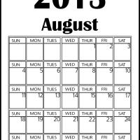 Printable Big August 2013 Calendar - Printable Monthly Calendars - Free Printable Calendars