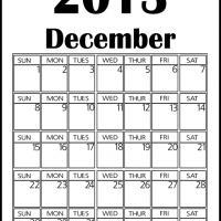 Big December 2013 Calendar