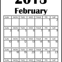 Big February 2013 Calendar