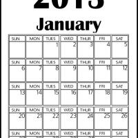 Big January 2013 Calendar