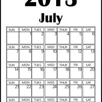 Printable Big July 2013 Calendar - Printable Monthly Calendars - Free Printable Calendars