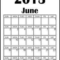 Printable Big June 2013 Calendar - Printable Monthly Calendars - Free Printable Calendars