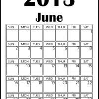 Big June 2013 Calendar