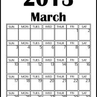 Printable Big March 2013 Calendar - Printable Monthly Calendars - Free Printable Calendars