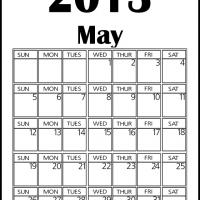 Printable Big May 2013 Calendar - Printable Monthly Calendars - Free Printable Calendars