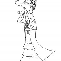 Printable Big Nose Princess 2 - Printable Princess - Free Printable Coloring Pages