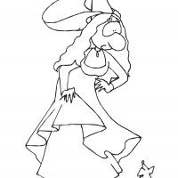 Printable Big Nose Princess 4 - Printable Princess - Free Printable Coloring Pages