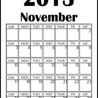 Printable Big November 2013 Calendar - Printable Monthly Calendars - Free Printable Calendars