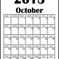 Printable Big October 2013 Calendar - Printable Monthly Calendars - Free Printable Calendars