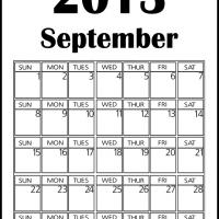Big September 2013 Calendar