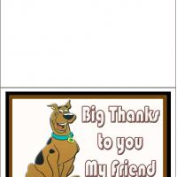 Printable Big Thank You From Scooby Doo - Printable Thank You Cards - Free Printable Cards