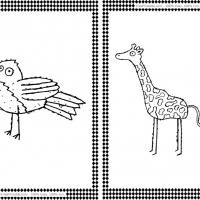 Printable Bird and Giraffe Flash Cards - Printable Flash Cards - Free Printable Lessons