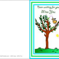 Printable Bird Singing - Printable Greeting Cards - Free Printable Cards
