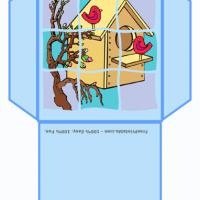 Printable Birdhouse Envelope - Printable Card Maker - Free Printable Cards