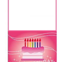 Printable Birthday Cake Pink Card - Printable Birthday Cards - Free Printable Cards