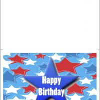 Printable Birthday Card With Blue Star - Printable Birthday Cards - Free Printable Cards