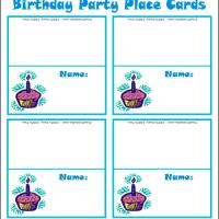 Birthday Cupcake Place Cards