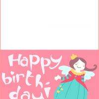 Printable Birthday Fairy Card - Printable Birthday Cards - Free Printable Cards