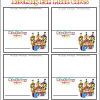 Printable Birthday Fun Place Cards - Printable Place Cards - Free Printable Cards