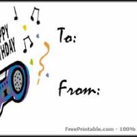 Printable Birthday Radio Gift Card - Printable Gift Cards - Free Printable Cards