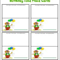 Printable Birthday Time Place Cards - Printable Place Cards - Free Printable Cards