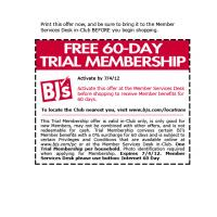 Printable BJ's Free 60-Day Trial Membership Coupon - Printable Discount Coupons - Free Printable Coupons