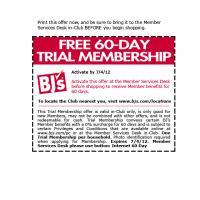 Bjs free membership