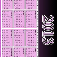 Black and Purple 2013 Calendar