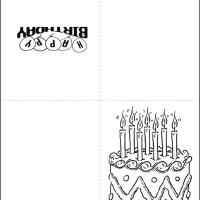 Printable Black And White Birthday Cake - Printable Birthday Cards - Free Printable Cards