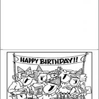 Printable Black And White Birthday Party - Printable Birthday Cards - Free Printable Cards