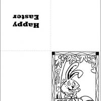 Printable Black And White Bunny - Printable Easter Cards - Free Printable Cards