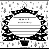 Printable Black and White Christmas Tree Guest Book - Printable Paper - Misc Printables