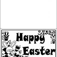 Printable Black And White Easter Card - Printable Easter Cards - Free Printable Cards