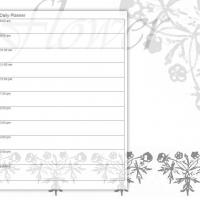 Printable Black and White Flower - Printable Daily Calendar - Free Printable Calendars