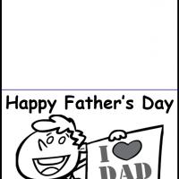 Printable Black and White I Love Dad Card - Printable Fathers Day Cards - Free Printable Cards