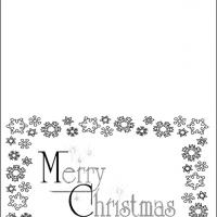 Black And White Merry Christmas Card