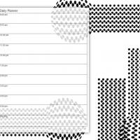 Printable Black and White Modern Dots - Printable Daily Calendar - Free Printable Calendars
