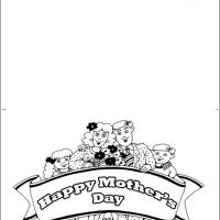Black And White Mother's Day Card