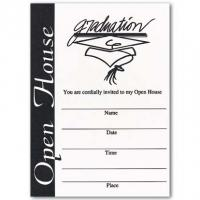 Printable Black and White Open House Invitation - Printable Graduation Invitations - Free Printable Invitations